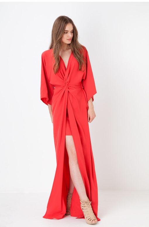 Vestido-MARÚ-Atelier-largo-con-nudo