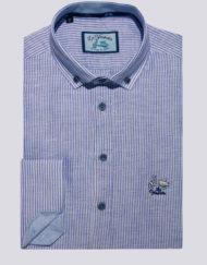 Camisa-La-Vespita-polera-raya-estrecha-celeste