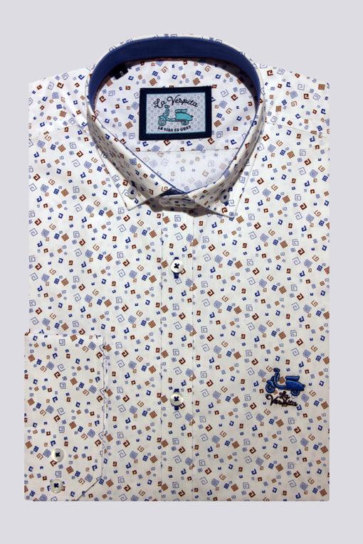 Camisa-La-Vespita-motivo-geométrico
