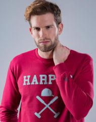 Sudadera-Harper-&-Neyer-logo-maxi-coral2